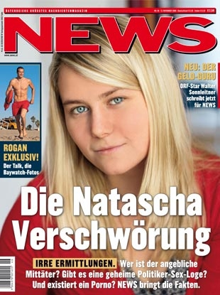 Inset cover photo of Austrian News magazine