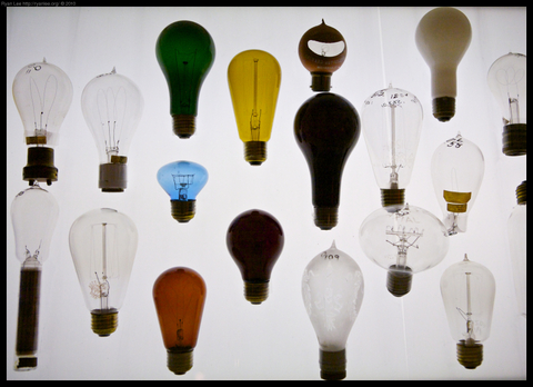 Huntington Library light bulb collection