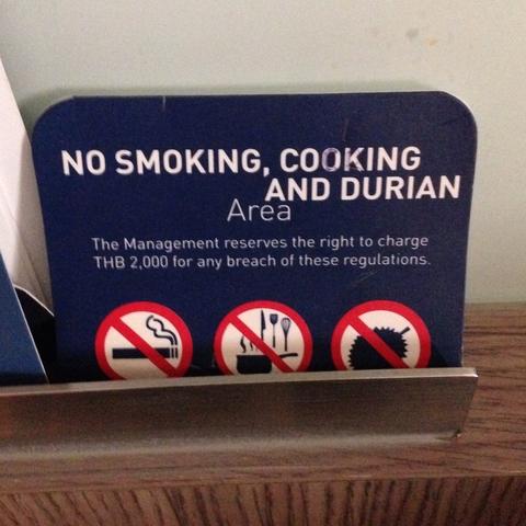 Beware durian fans