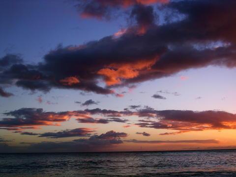 Nanakuli sunset clouds
